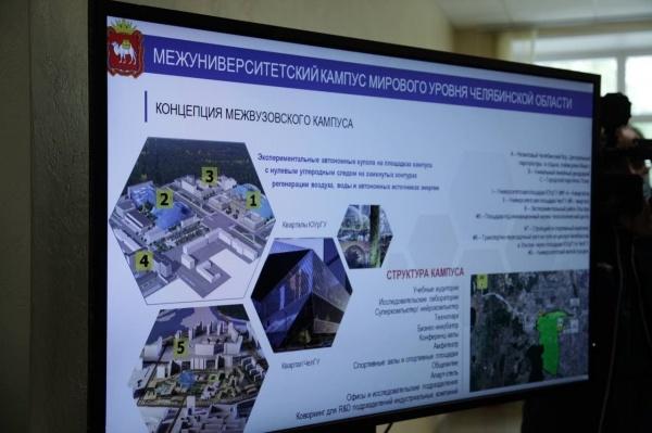 проект межуниверситетского кампуса в Челябинске(2021)|Фото: пресс-служба губернатора Челябинской области