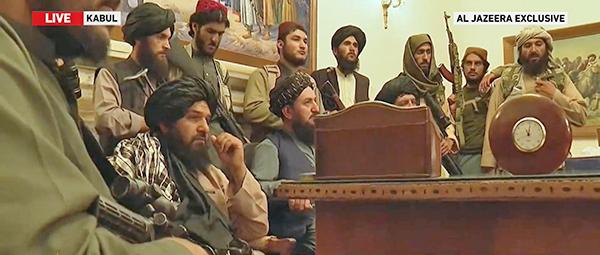 Талибы внутри президентского дворца в Кабуле(2021)|Фото: Al Jazeera