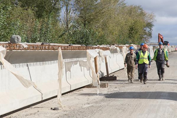 Реконструкция моста на Циолковского в Нижнем Тагиле(2021) Фото: ntagil.org / Сергей Казанцев