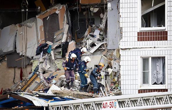 Взрыв газа в девятиэтажном доме в подмосковном Ногинске(2021)|Фото: Артем Геодакян / ТАСС