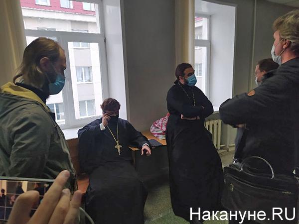 Представители церкви в Ленинском районном суде Екатеринбурга на деле схимонаха Сергия(2021)|Фото: Накануне.RU