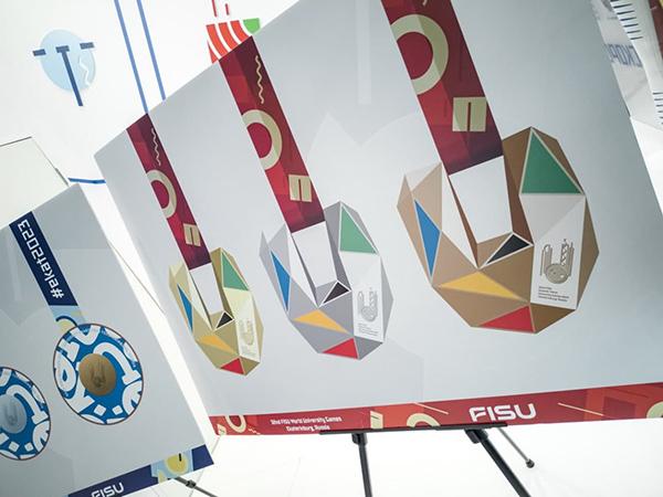 Эскизы медалей Всемирных студенческих игр в Екатеринбурге(2021)|Фото: ДИП Свердловской области
