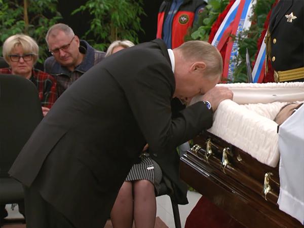 Владимир Путин, прощание с Евгением Зиничевым(2021) Фото: НТВ
