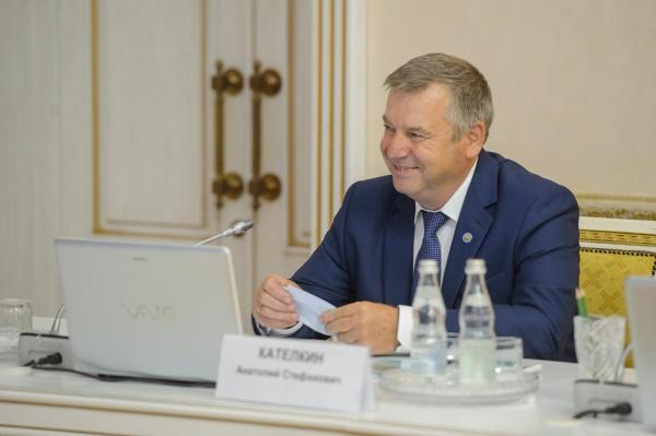 Алексей Гордеев, Александр Гусев, Анатолий Кателкин, совещание(2021) Фото: govvrn.ru