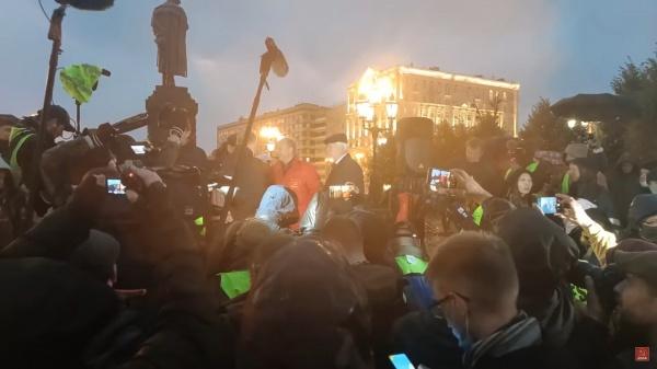 Народный сход, Пушкинская площадь, КПРФ(2021)|Фото: youtube.com, Валерий Рашкин