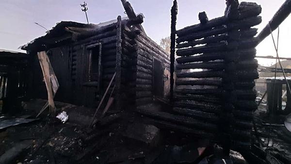 Пожар в селе Кадниково Сысертского района(2021)|Фото: СУ Следственного комитета РФ по Свердловской области