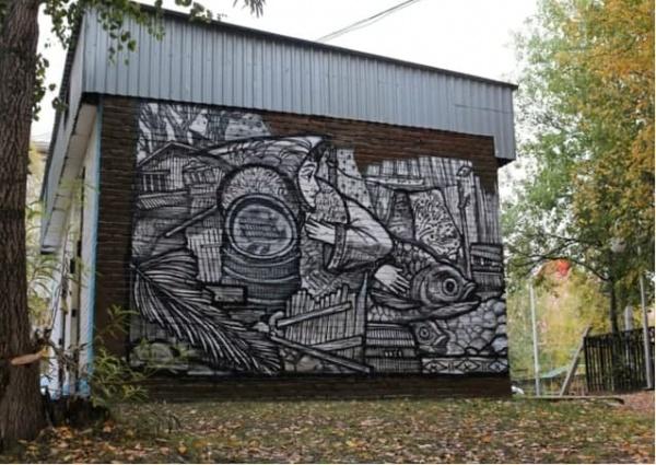 граффити, нижневартовск(2021) Фото: пресс-служба администрации Нижневартовска
