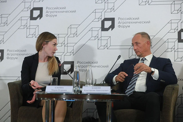 Мария Елкина и Константин Бабкин на Российском агротехническом форуме(2021)|Фото: пресс-служба РАФ