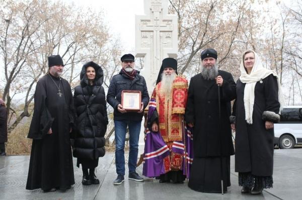 установка креста на месте строительства храма святого князя Александра Невского(2021) Фото: Фонд святой Екатерины