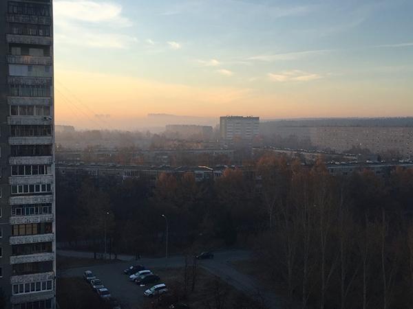 Смог на Юго-Западе Екатеринбурга(2021)|Фото: vk.com/swekb66 / Юрий Явир