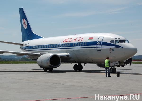 Boeing-737 Боинг самолет Кольцово Белавиа авиакомпания(2010)|Фото: Накануне.RU