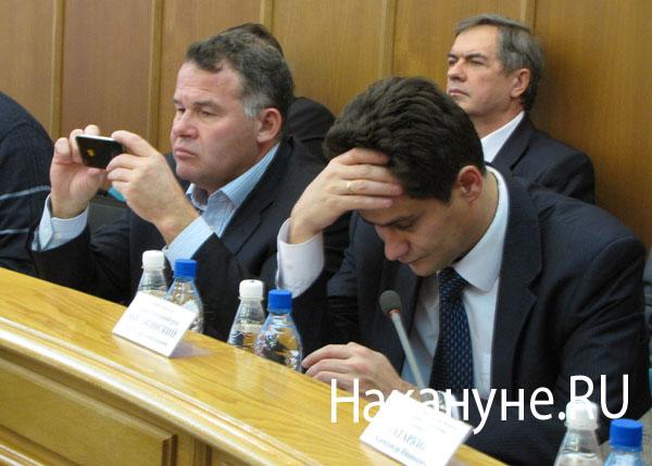 вице-мэры Екатеринбурга Владимир Тунгусов Александр Высокинский|Фото: Накануне.RU