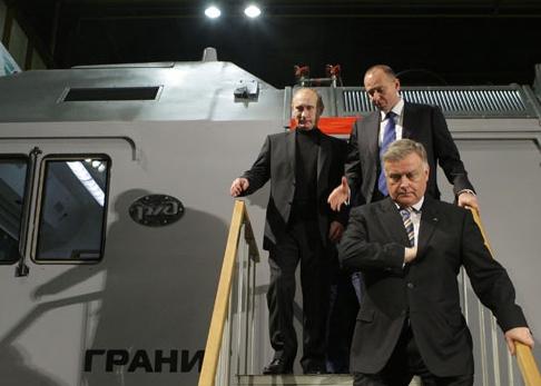 Владимир Якунин Владимир Путин уральские локомотивы Фото: premier.gov.ru