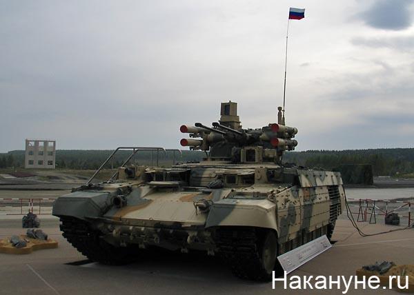 нижний тагил выставка вооружений 2011 боевая машина поддержки танков бмпт Фото: Накануне.ru