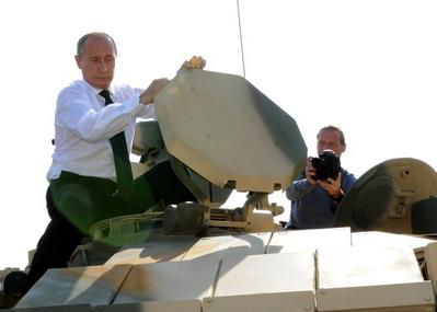 выставка вооружений нижний тагил 2011 танк путин Т-90С|Фото: amisharin.ru