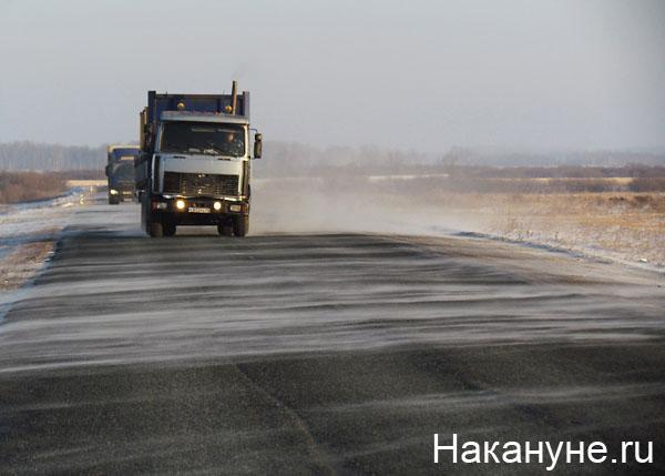 дорога трасса зима поземка снег грузовик(2012)|Фото: Накануне.ru