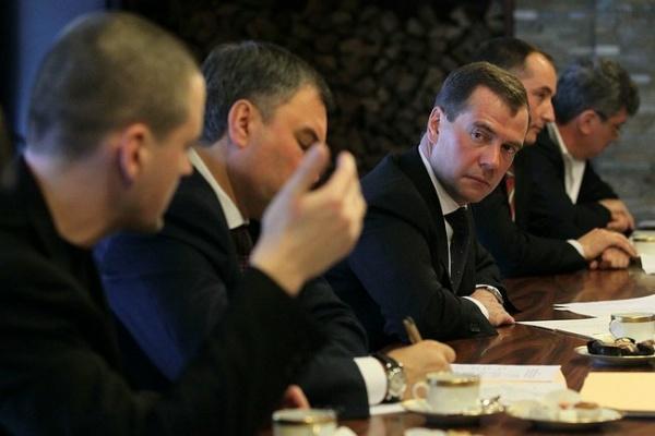 Медведев, Удальцов встреча с внесистемной оппозицией 20.02.2012|Фото:пресс-службы Президента России