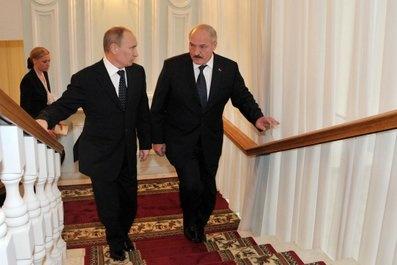 Лукашенко, Путин Фото:пресс-служба Кремля