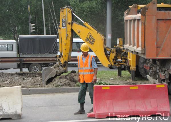 стройка, ремонт дорог, рабочий|Фото: Накануне.RU