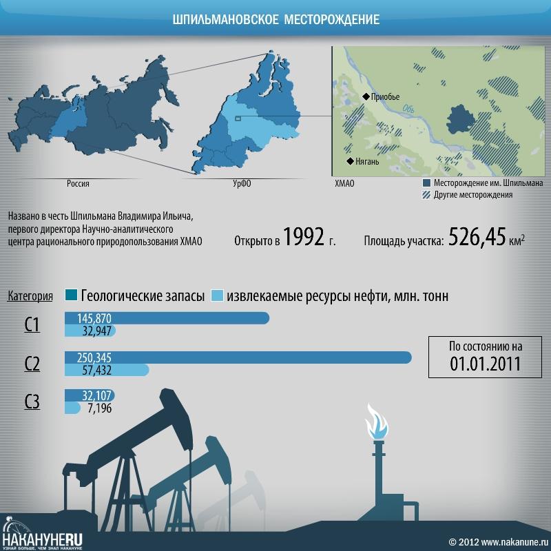 инфографика шпильмановское месторождение, газ, нефть, добыча Фото: Накануне.RU