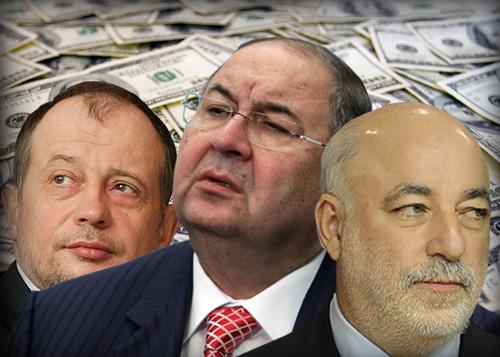 коллаж миллиардеры, доллары, Усманов, Лисин, Вексельберг|Фото: