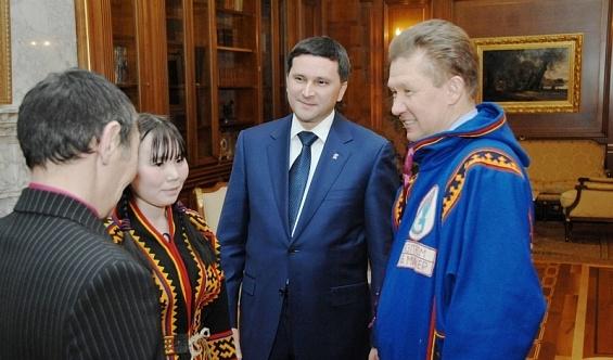 губернатор янао дмитрий кобылкин и председатель правления оао газпром алексей миллер Фото: правительство.янао.рф