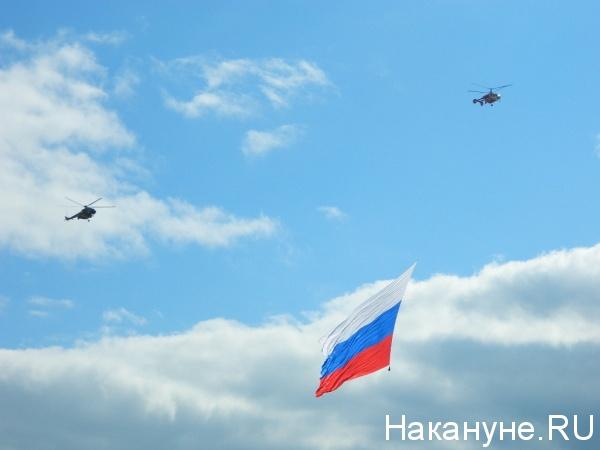 МАКС-2013, международный авиационно-космический салон, вертолеты, флаг России,  флаг Российской Федерации|Фото: Накануне.RU