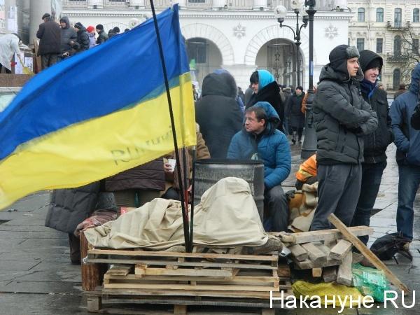 Киев Евромайдан флаг Украины|Фото: Накануне.RU