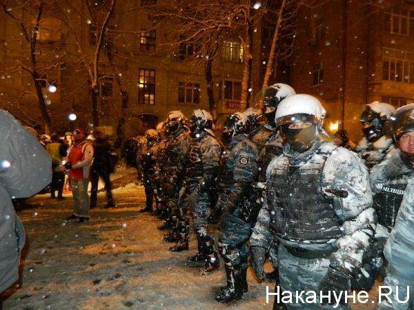 """""""Беркут"""", Киев, Майдан, декабрь, 2013 Фото:Накануне.RU"""