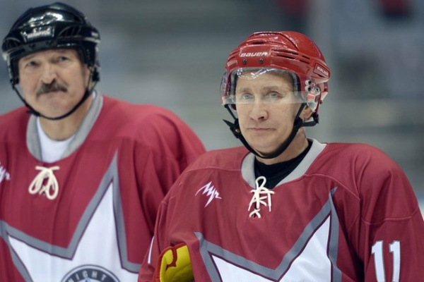 Путин, Лукашенко, хоккей, сочи, матч Фото: пресс-служба Кремля