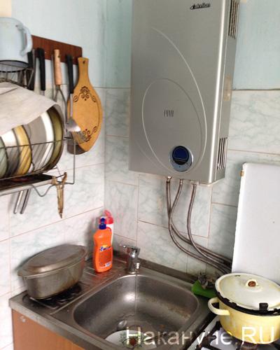 газовая колонка, Сухой Лог Фото: Накануне.RU