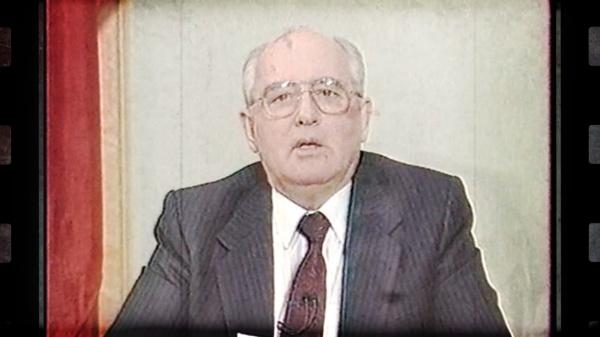 кадры из фильма Биохимия предательства, выступление Горбачева Фото: Константин Семин