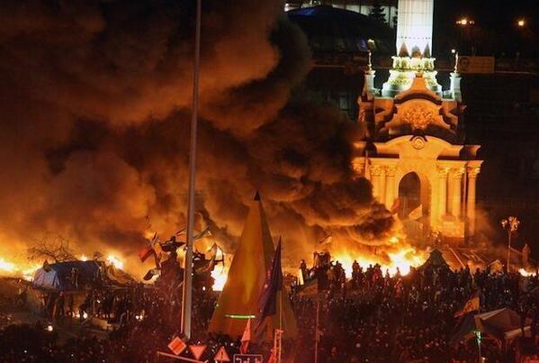 киев, майдан, погром, 18.02.2014 Фото твиттер