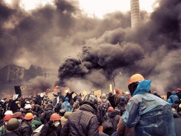 Майдан, киев, погром, пожар|Фото: твиттер