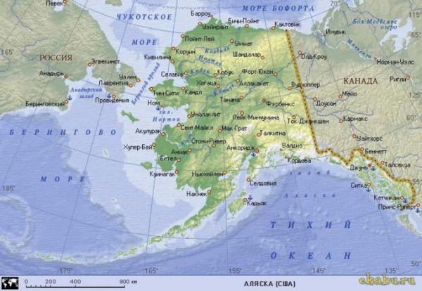аляска карта|Фото: