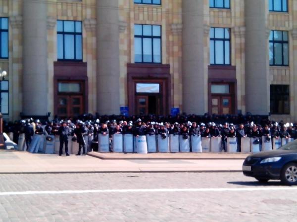 митинг, харьков, 6 апреля 2014, милиция|Фото:
