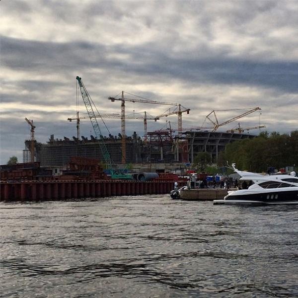 стадион Зенит стройка Медведев|Фото: instagram.com/damedvedev