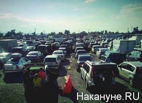 пробка, Керченский пролив, накопитель, автомобиль|Фото: Накануне.RU