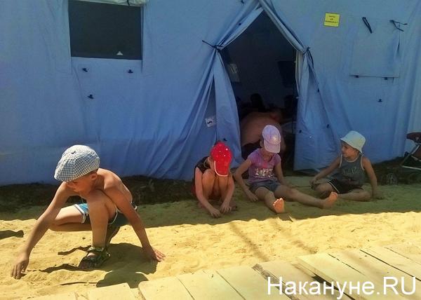 беженцы, Ростов, Украина, палаточный лагерь Фото: Накануне.RU