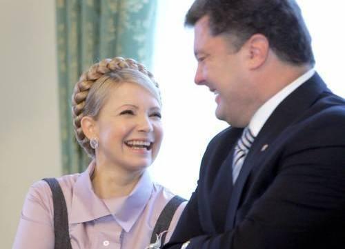 Порошенко, Тимошенко|Фото: http://vgosti.kiev.ua