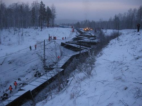крушение грузового поезда Златоуст февраль 2014|Фото: Уральское следственное управление СКР на транспорте