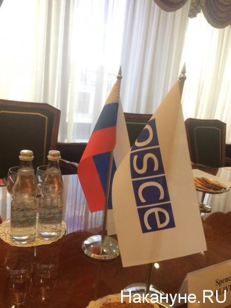 Россия, ОБСЕ, флаг России, переговоры|Фото: накануне. RU