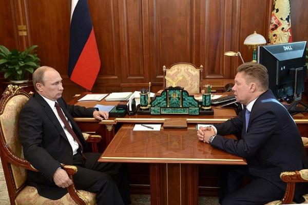 Алексей Миллер, Владимир Путин|Фото:пресс-служба Кремля