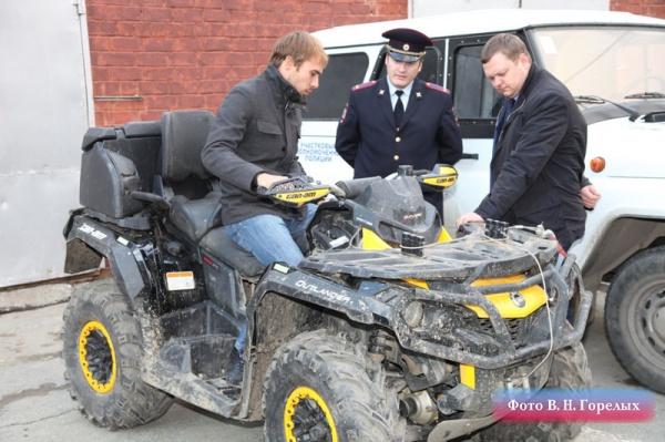 Шипулин, вездеход, полиция|Фото: ГУ МВД России по Свердловской области