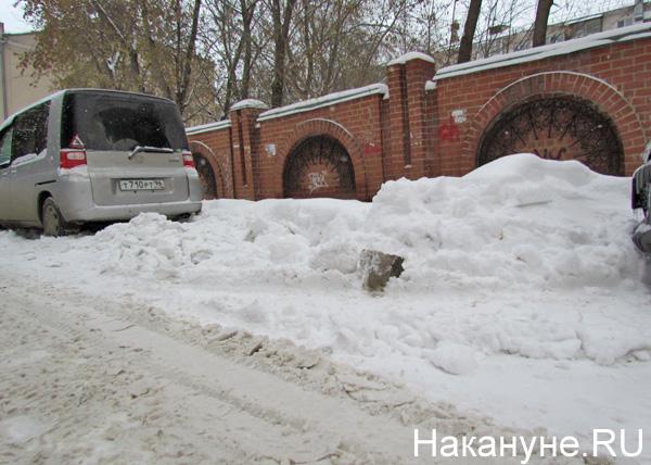 Екатеринбург, сугробы, зима, снег, снегопад, завалы|Фото: Накануне.RU