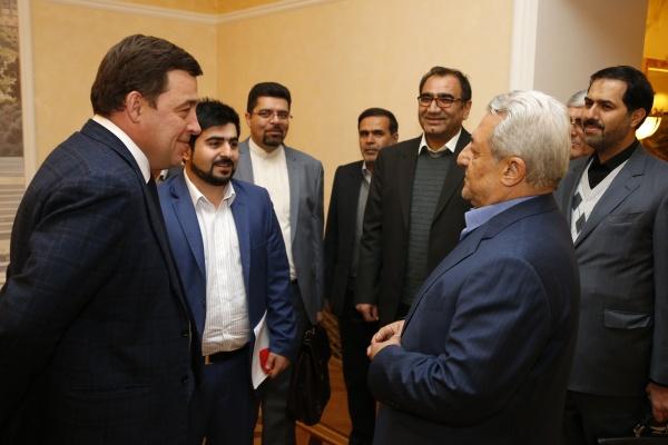 Куйвашев, встреча, Хамадан Мохаммад Насер Никбахт|Фото: Департамент информационной политики губернатора Свердловской области