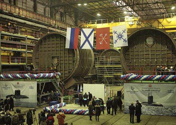 Адмиралтейские верфи, подводная лодка проекта 636.3, закладка, Великий Новгород, Колпино|Фото: admship.ru