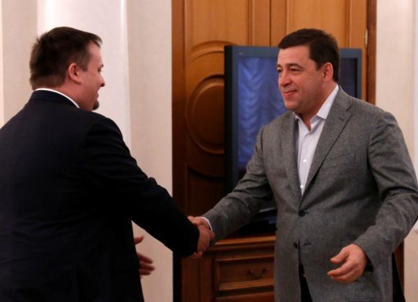 Евгений Куйвашев, Андрей Никитин Фото: губернатор Свердловской области
