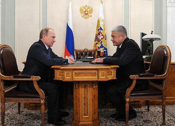Министр МВД Владимир Колокольцев, Президент Владимир Путин Фото: Пресс-служба Кремля
