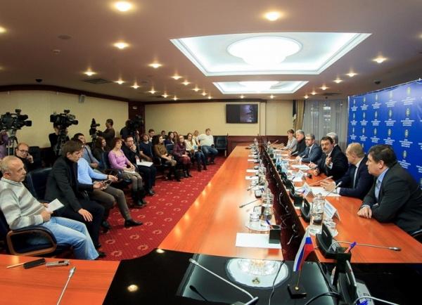 пресс-конференция, отмена выборов в Югре|Фото:пресс-служба Думы ХМАО
